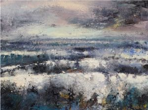 Northumberland Sea 1. Oil on canvas, 80 x 60 cm. SOLD