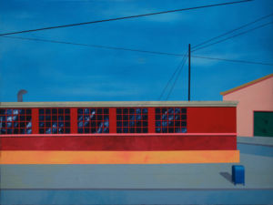 Once We Walked Passed Warehouses, All the Way to Jackson Heights. Acrylic on Canvas, 92 x 121 cm. 2012