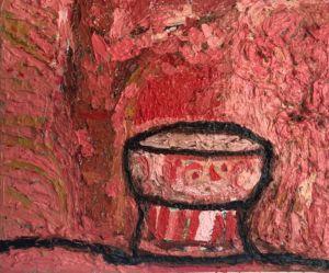 Red Bowl. Oil on linen, 28 x 23 cm