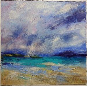 Sea Mist. Acrylic on paper, 36 x 36 cm
