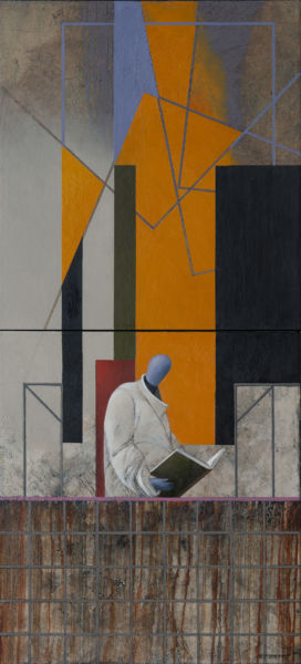 Silence. Oil on canvas, 120 x 55 cm (diptych). SOLD