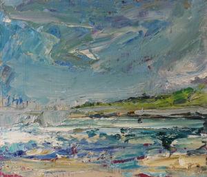 Sky of Many Blues. Oil on board, 26 x 31 cm. SOLD