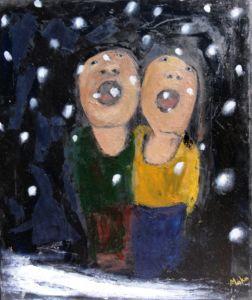Snowfall. Oil on canvas, 60 x 55 cm. SOLD