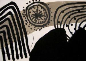 Trio 1. Drypoint, carborundum, 71 x 50 cm