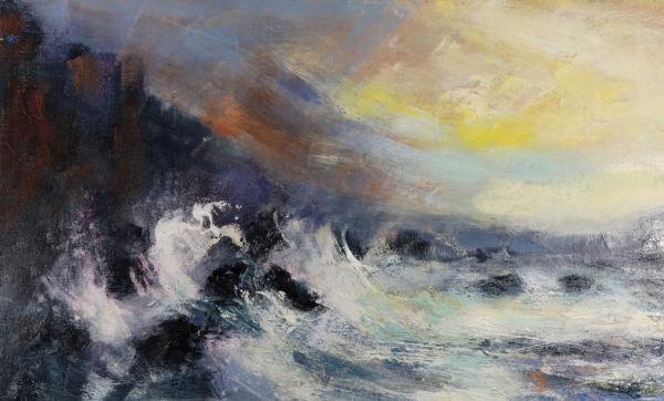 The Wild. Oil on board, 100 x 60 cm. 2020