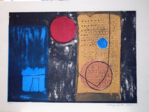 Three Circles. Collagraph. SOLD