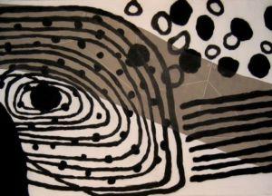 Trio 2. Drypoint, carborundum, 71 x 53 cm