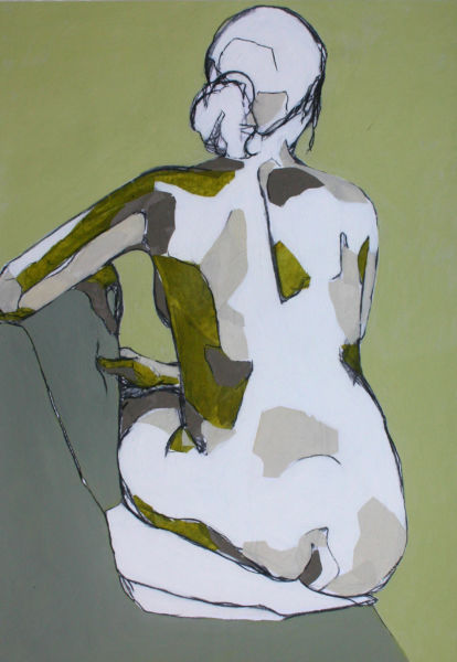 Undressed 20. Mixed media on paper, 60 x 85 cm. SOLD