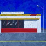 Pit Stop. Skittles. Pringles. Mr. Pibb. Go! Acrylic on canvas, 92 x 122 cm. 2019