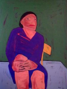 Self-Portrait. Oil on canvas, 140 x 102 cm