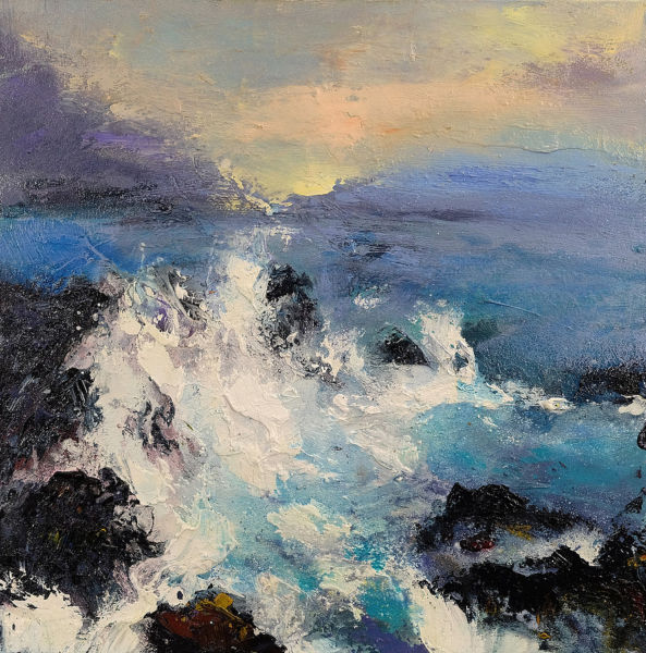 Endless Waves. Oil on canvas, 50 x 50 cm. SOLD
