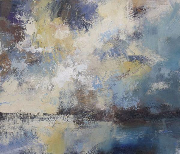 Sky Run Away with Me. Oil on board, 30 x 35 cm