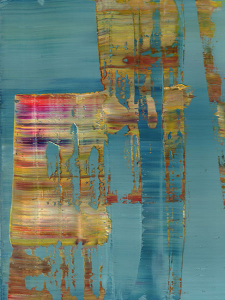 Koen Lybaert. Abstract N° 1763. Oil on paper, 40 x 30 cm. SOLD