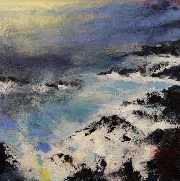 Grey Sea. Oil on canvas, 100 x 100 cm