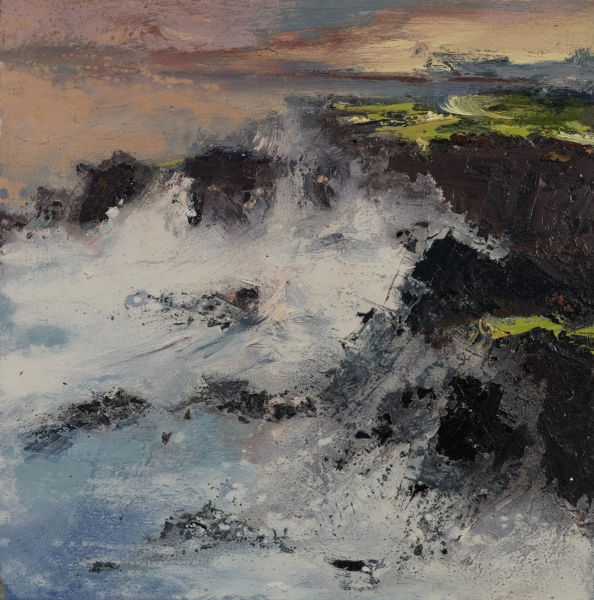 Waves. Oil on canvas, 50 x 50 cm. SOLD