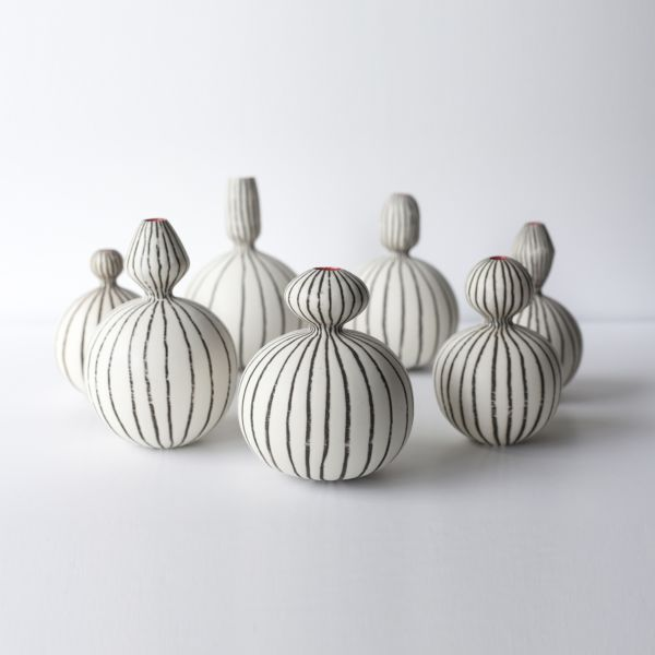 Friends vases. Porcelain vessels, wheel-thrown. SOLD OUT