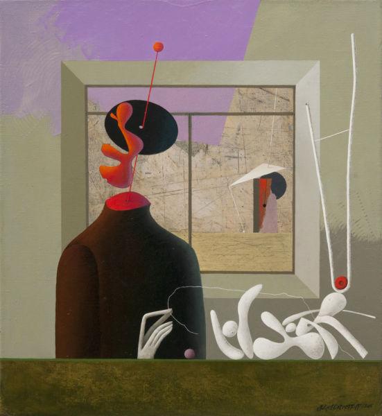 Solitude. Oil on canvas, 60 x 55 cm. SOLD