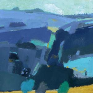 Exmoor, March Evening. Oil on panel, 30 x 30 cm