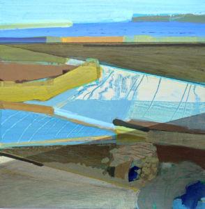 Sun and Shade. Acrylic on panel, 25 x 25 cm